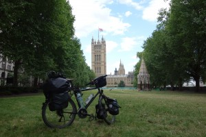Mon vélo près de Big Ben